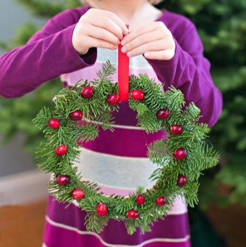 Easy Holiday Pine Wreath