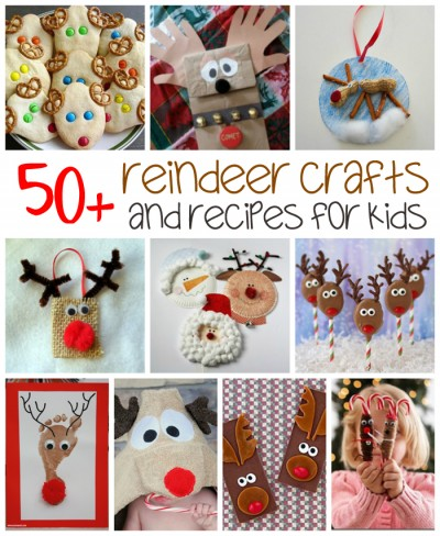 50+ Reindeer Crafts & Recipes