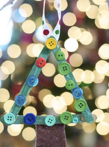 Popsicle Stick Christmas Tree Ornament
