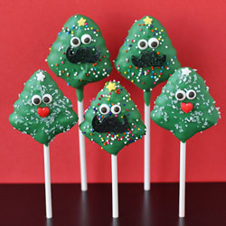 Spritz Christmas Tree Pops