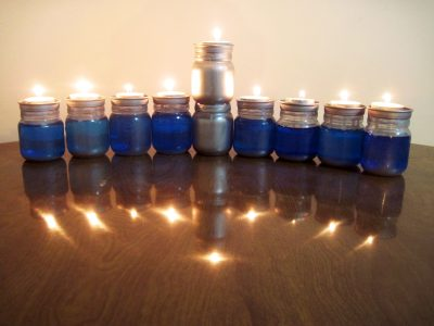 Upcycled Hanukkah Menorah