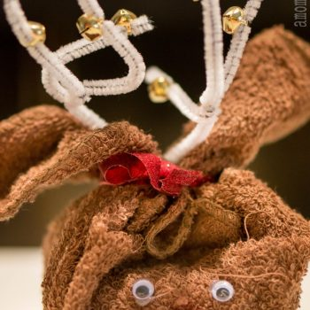 Washcloth Reindeer