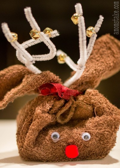 Washcloth Reindeer