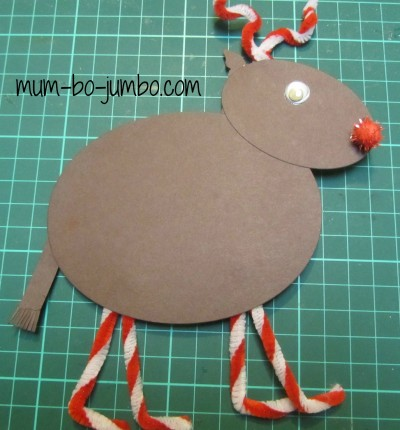 Punch Art: Rudolph the Red Nosed Reindeer