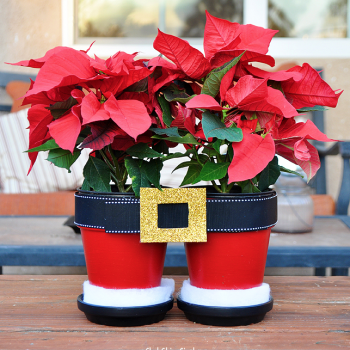 Santa Pants Flower Pot