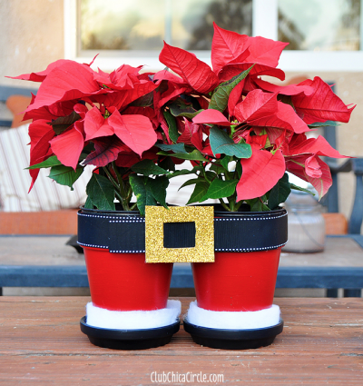 santa pants flower pots