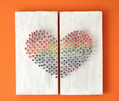 Rainbow Crayon Wall Art | Fun Family Crafts