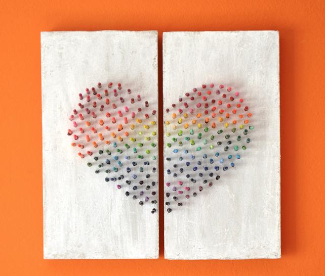 Rainbow Crayon Wall Art