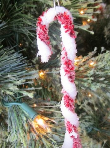 Crystallized Candy Cane Ornament