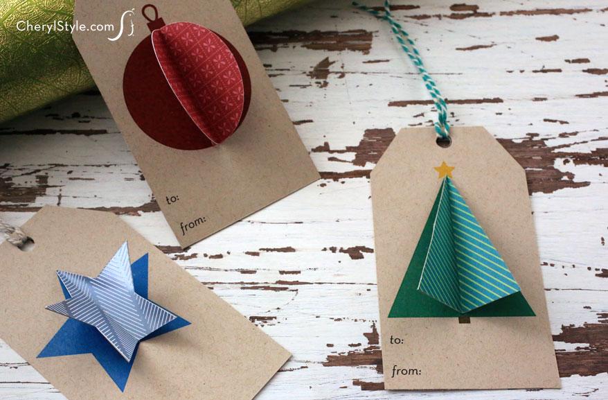 3-D Christmas Gift Tags