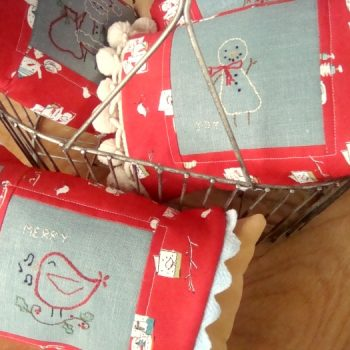 Christmas Embroidery Pillow Sleeve