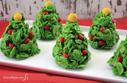 Cornflake Christmas Tree Cookies