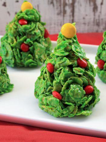 Cornflake Christmas Tree Cookies