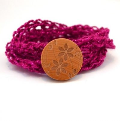 Easy Crochet Wrap Bracelet