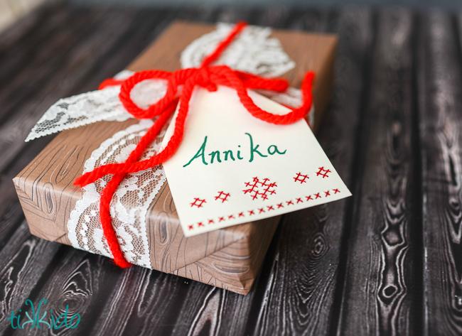 Cross Stitch Gift Tags