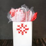 Cross Stitch Snowflake Gift Bag