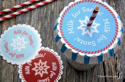Santa's Milk Glass Cover