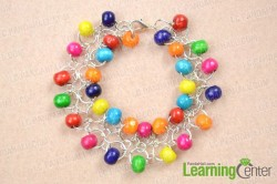 Chainmail Wood Bead Bracelet