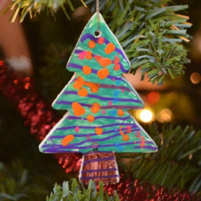 Painted Clay Ornaments