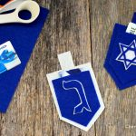 Felt Dreidel Gift Card Holders