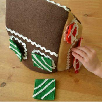 Felt Shapes Gingerbread House
