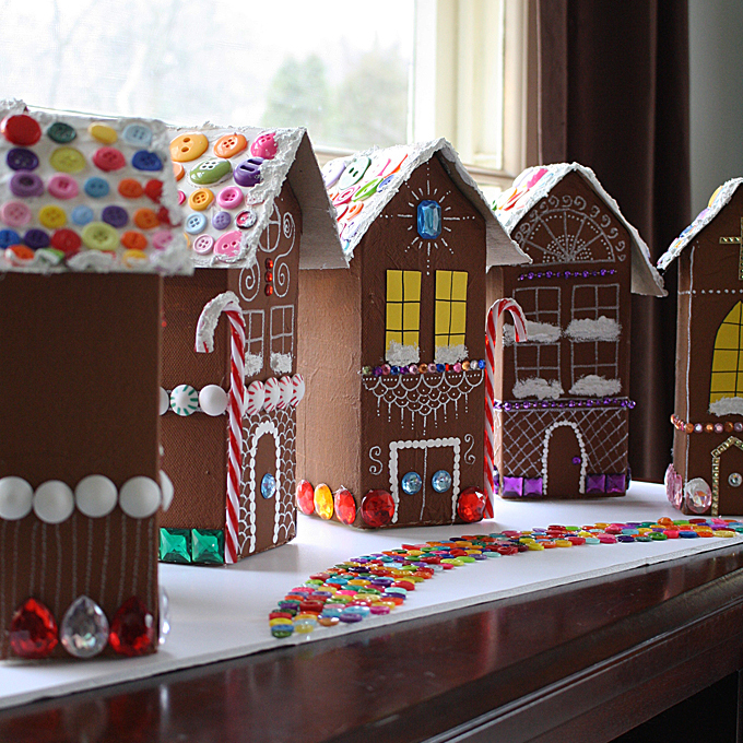 Gingerbread House Christmas Village Fun Family Crafts