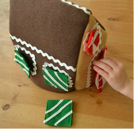 Felt Shapes Gingerbread House
