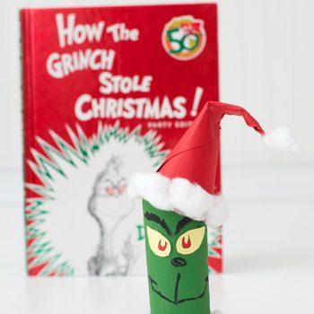 Cardboard Tube Grinch