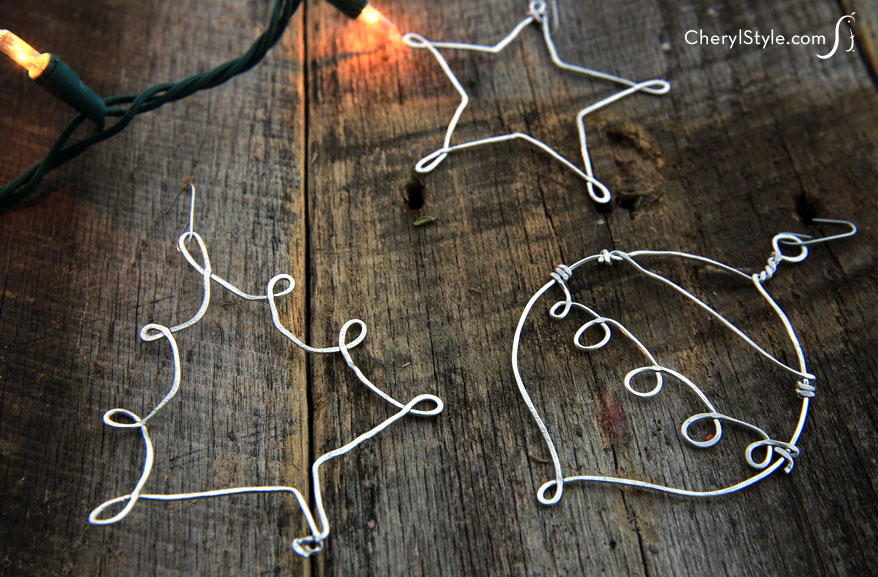Hammered Metal Ornaments
