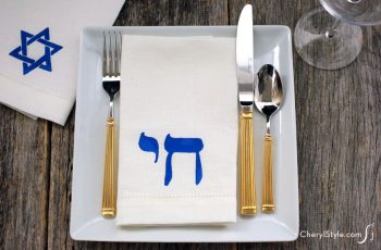 Hanukkah Stenciled Napkins