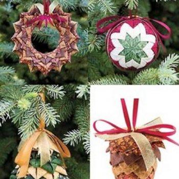 No-Sew Fabric Ornaments