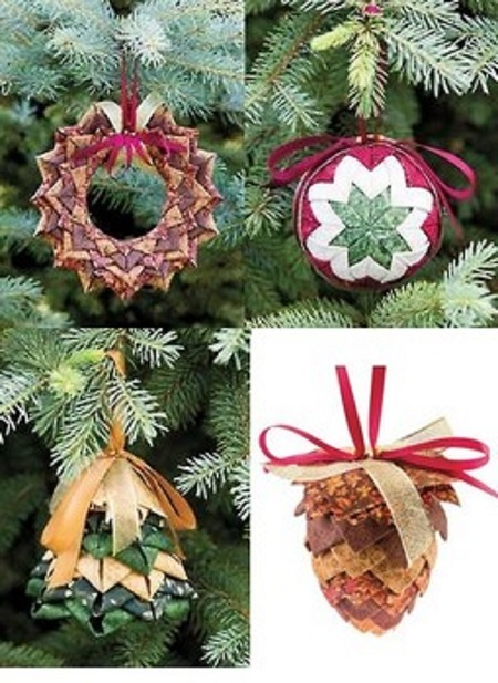 No-Sew Fabric Ornaments