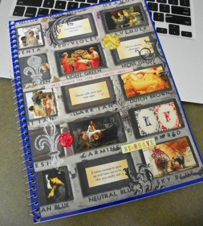 Collaged Notebook Cover