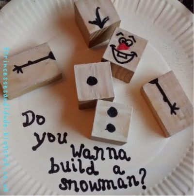 Olaf-Inspired Wooden Blocks