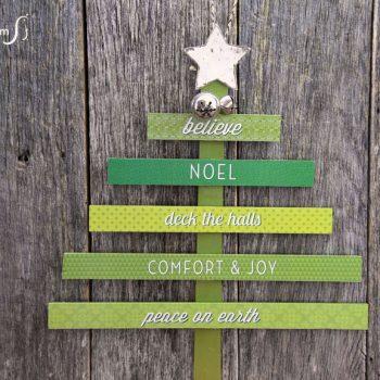 Paint Stick Christmas Tree