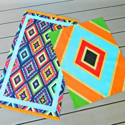 No-Sew Painted Rug