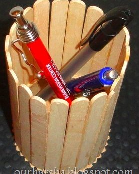 Craft Stick Pen Holder