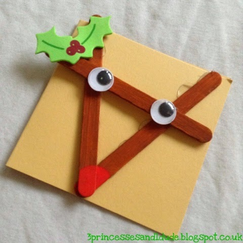 Popsicle Stick Rudolph