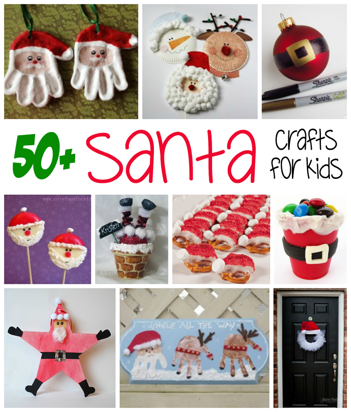 fun christmas craft ideas for kids 50 santa crafts amp recipes for family crafts 7735