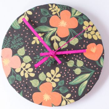 Wrapping Paper Clock
