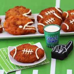 Chicken Nugget Footballs and Helmets