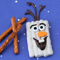 White Chocolate Pretzel Olaf