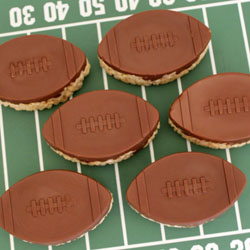 Rice Krispie Treat Footballs