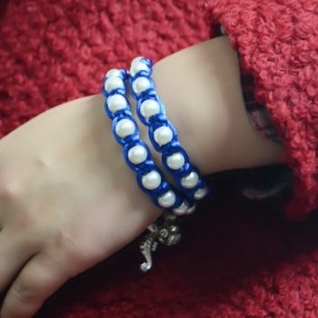 Macrame Bracelet with Memory Wire