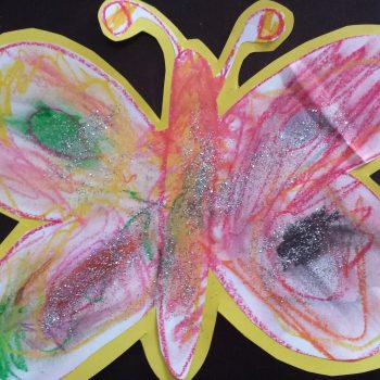 Oil Pastel Butterfly