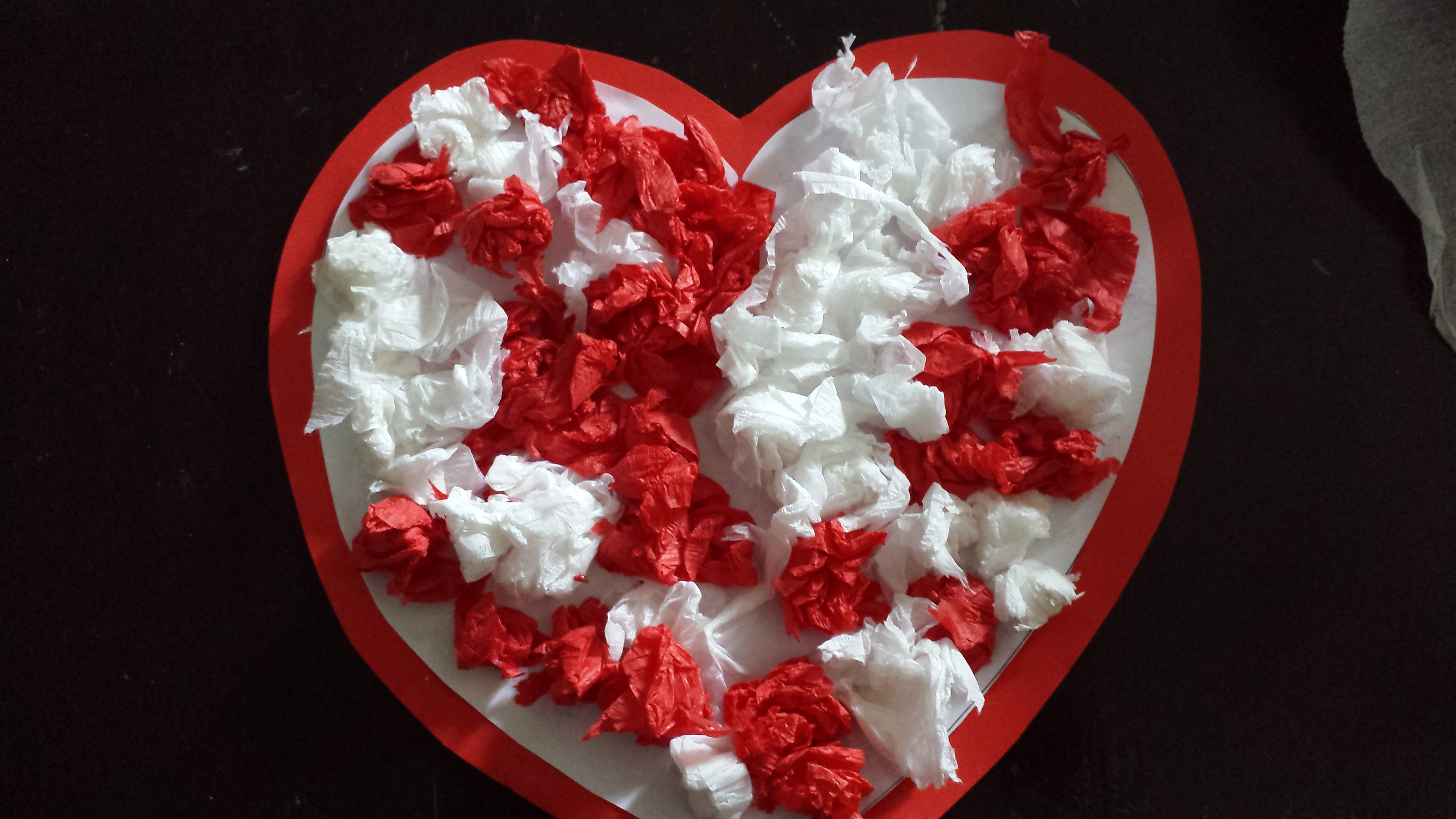 Crepe Paper Hearts
