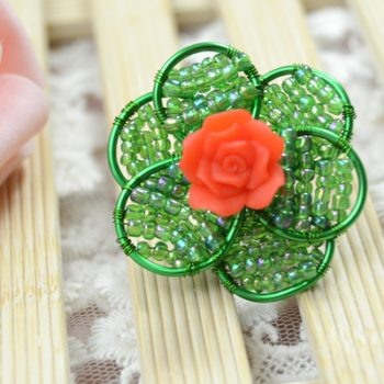 Wire-Wrapped Flower Ring