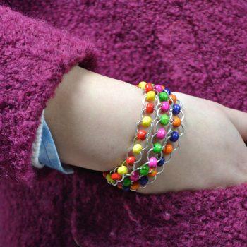 Beaded Jump Ring Bracelet
