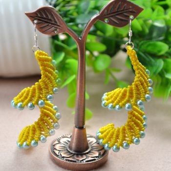 Macrame Spiral Earrings