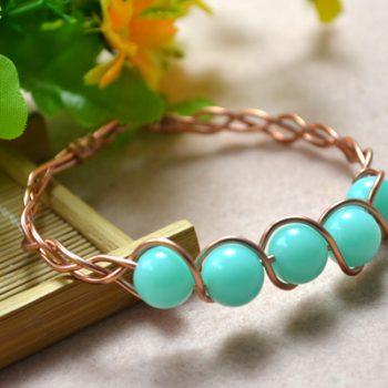 Braided Wire Bangle Bracelet